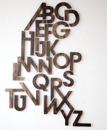 Мысли на виду! (или 60 идей декора стен с помощью слов, букв и цифр), фото № 59