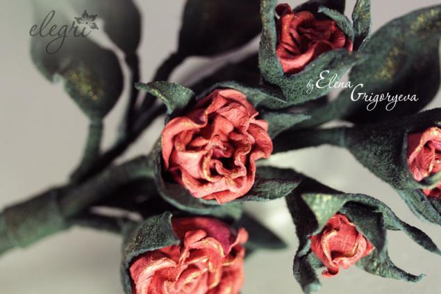 авторские цветы, мастер-класс кожа, эксклюзивные цветы