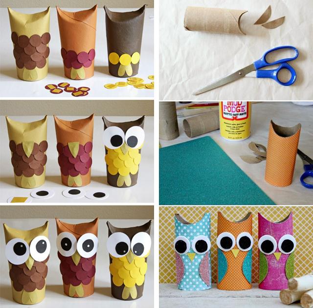 Поделки из втулок от туалетной бумаги своими руками для детей