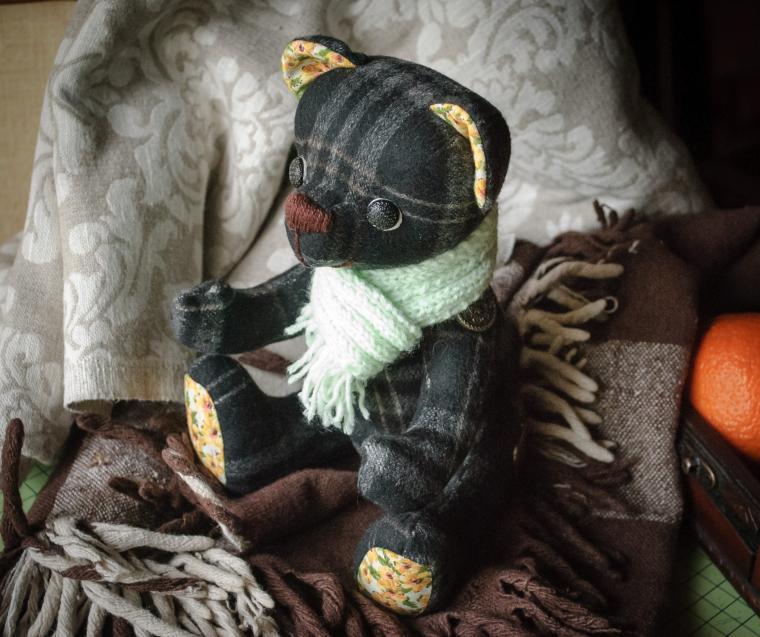 фотосессия, шотландка, teddy bear