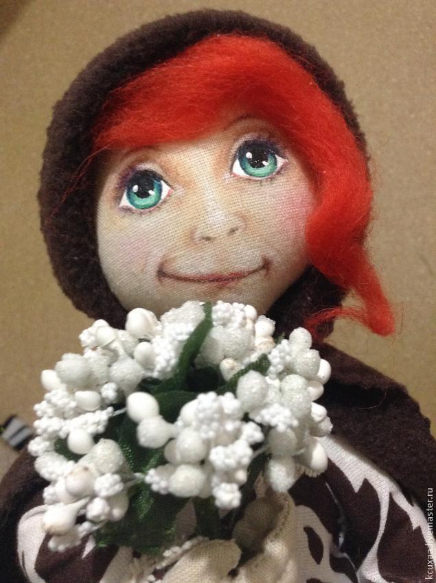 Как сделать глаза тряпичной кукле