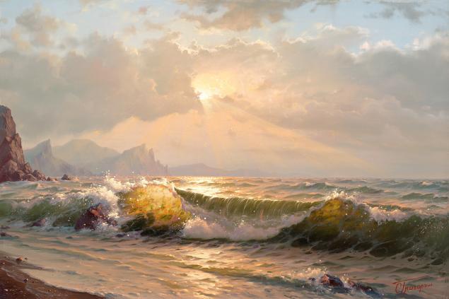 море, картина, искусство, панно, стихия