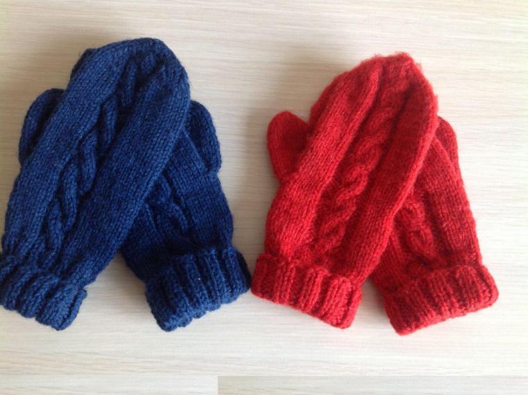 Вязание варежек и шарфов для детей 12