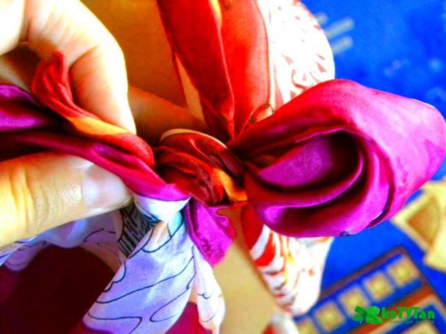 шелковый платок, наряд