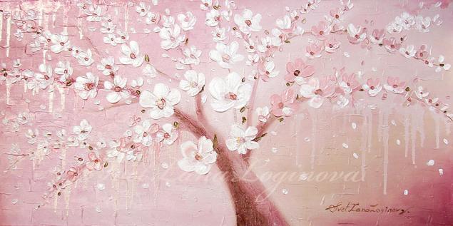 весна, розовый цвет, весенняя картина