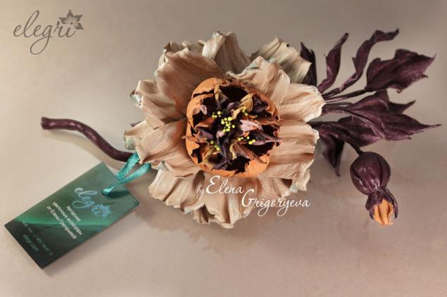 староанглийская роза, кожаные цветы, эксклюзивные цветы, обучение роза