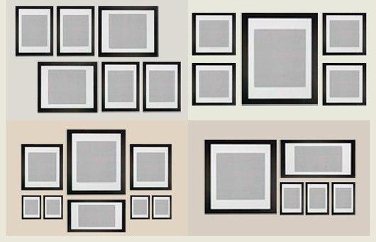 Как красиво развесить картины на стене: 8 советов и 32 готовые