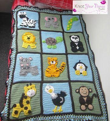 Crochet Zoo Blanket