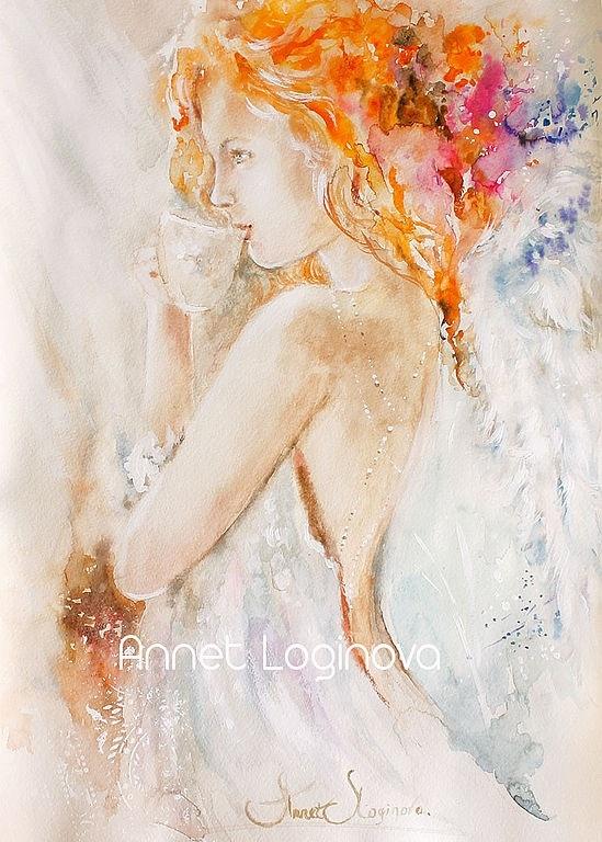 ангел, картины с ангелами, девушка, подарок для девушки, женский оберег, девушке