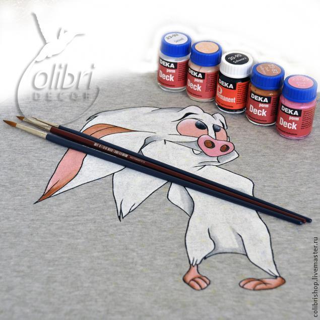 роспись по ткани, мышонок из анастасии