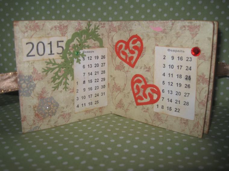 календарь, мк в спб, подарок своими руками