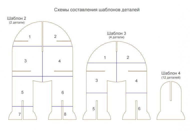 Мебель для куклы из картона выкройки и схемы