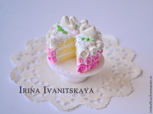 фимо, лепка из полимерной глины, торт из пластики, кукольный домик, сладости из пластики, крем из пластики, урок по лепке