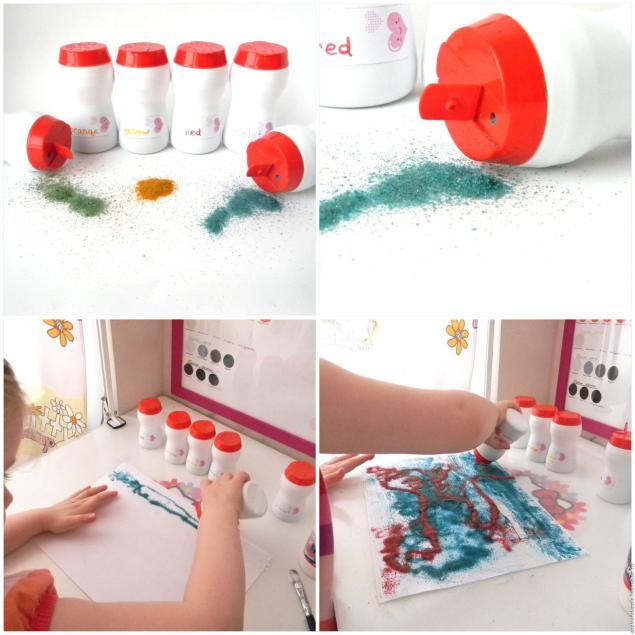 Цветной песок для детского сада своими руками 47