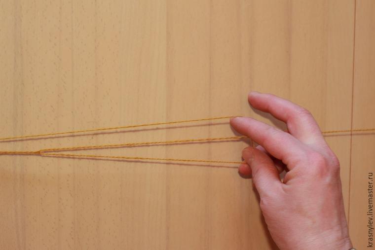вязание тройной нитью