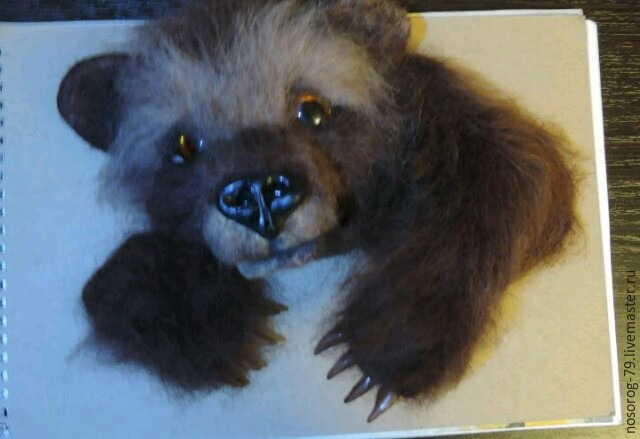 «Пробирается медведь сквозь лесной валежник...». Создаем из шерсти панно «Пробуждение», фото № 18