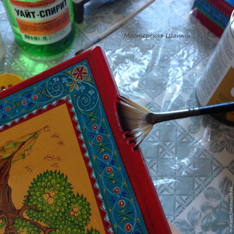 Расписываем яркую шкатулку-развивайку для детей, фото № 36