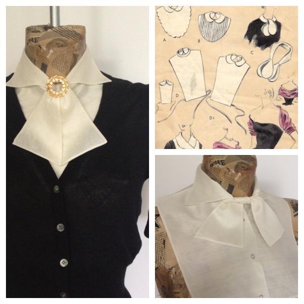 винтажный стиль, манишки, шелк, коллекция2013-2014, аксессуары