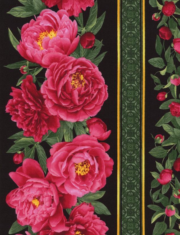 американские ткани, цветочная композиция