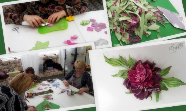 обучение цветам, купить розу, пионовидная роза, аксессуар роза, купить брошь, авторская роза