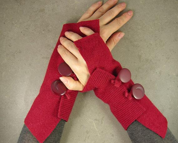 Как сделать перчатки из ткани без пальцев