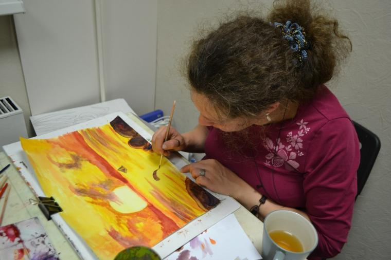 обучение живописи, тушь, карандаш