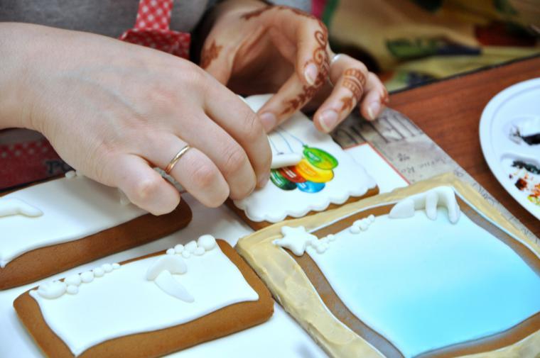 Объемная роспись пряников мастер класс
