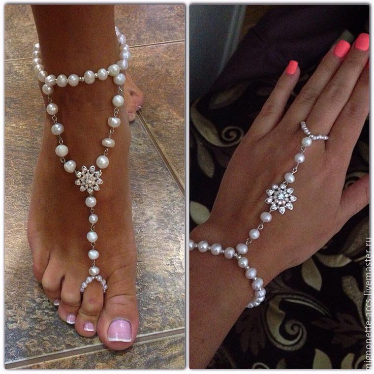 Индийские ножные браслеты своими руками 99