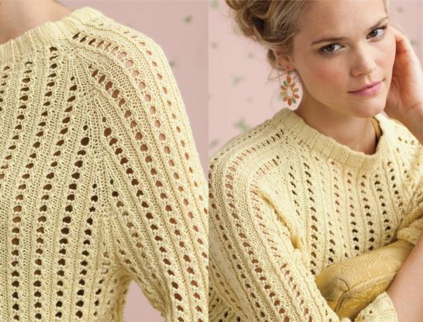 вязаные свитера для начинающих