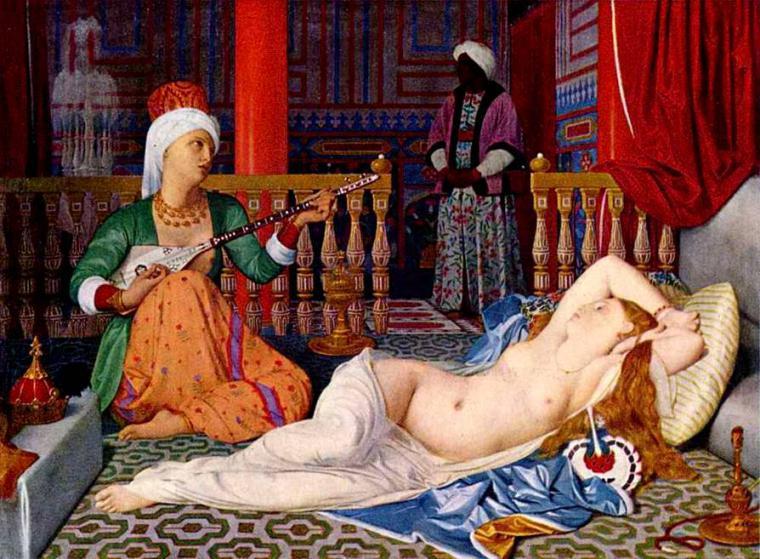 Эротические сцены секса рабынями гарема падишаха