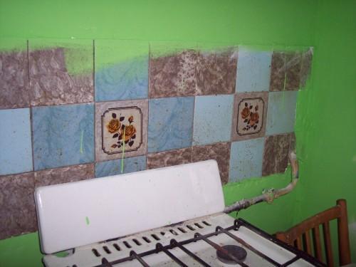 Декупаж на кафельной плитке на кухне своими руками