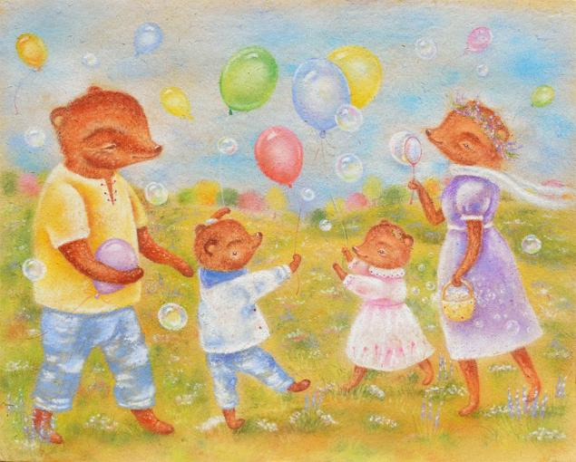 семья мишек