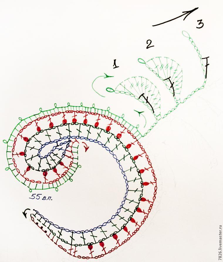 схемы элементов крючком
