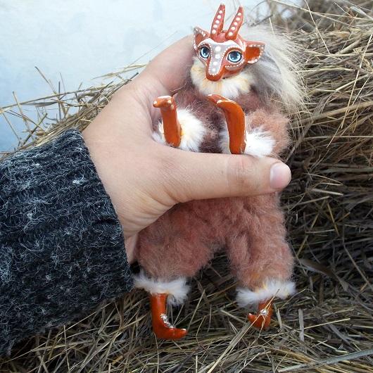 коза, новогодний сувенир, символ 2015