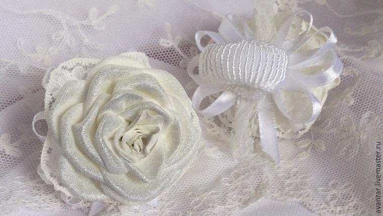 Создаем заколки с кружевом и золотыми розами из фоамирана, фото № 26