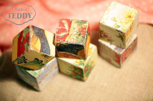 кубики, новый год, шебби, новое