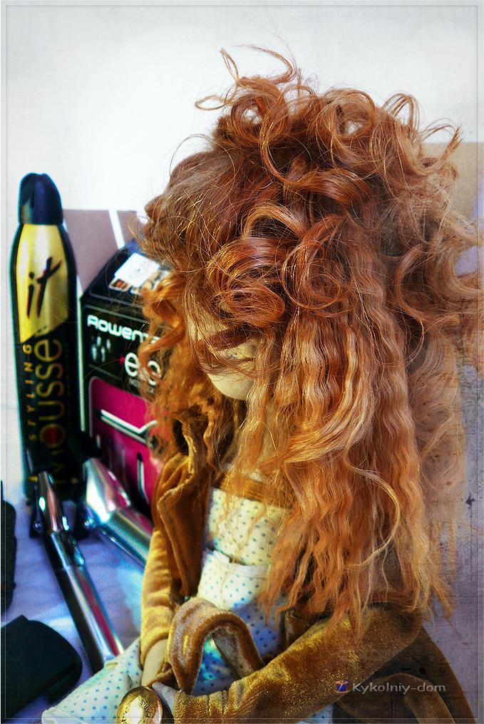 причёска у куклы, волосы