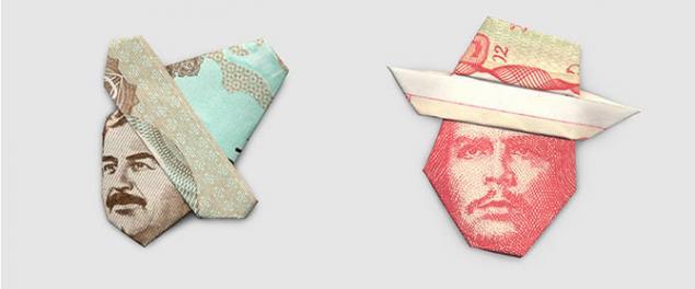 шляпы из денег