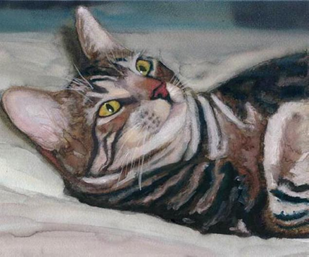 Макияж кошки мастер класс акварель пошагово #12