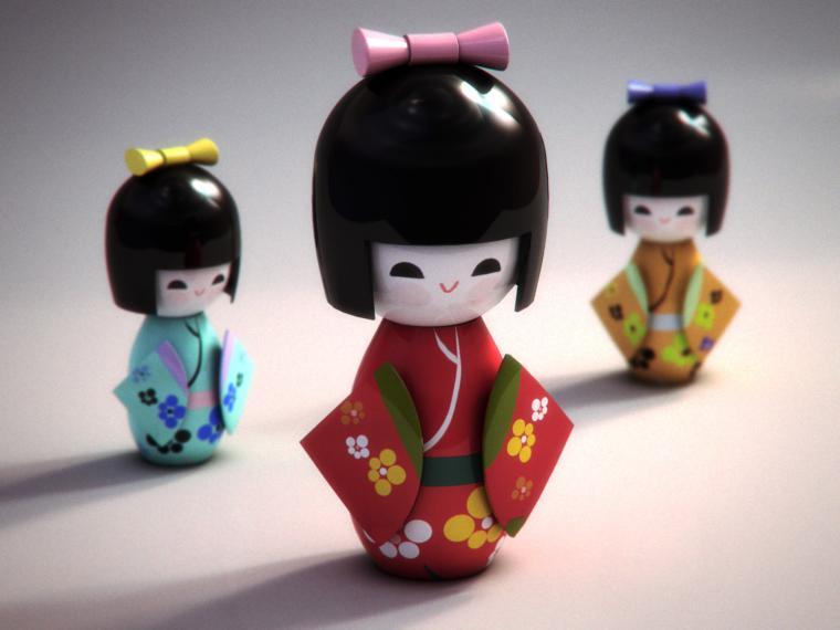 японская кукла, история создания