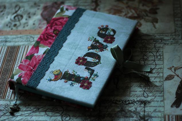 блокнот ручной работы, блокнот с вышивкой, любовь