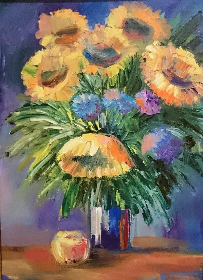 мастер-класс, мастер-классы, масляная живопись, масло, масляные краски, холст масло, холст, цветы