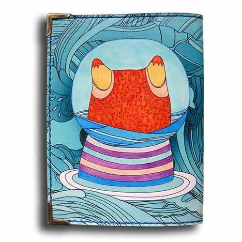 обложка для паспорта, рыбка, подарок подруге, borяn