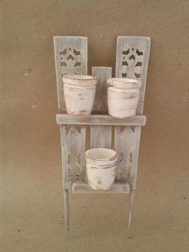 Мастерим декоративный забор с цветочными горшками для мини-садика, фото № 39