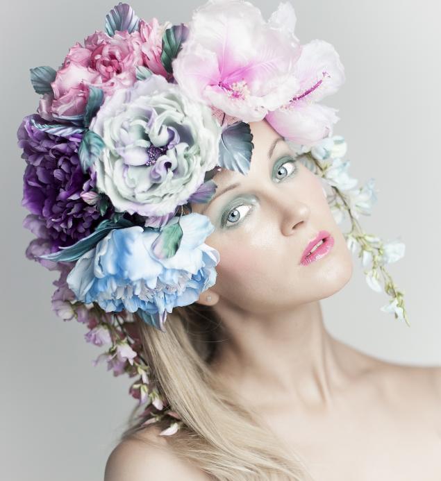 цветочный шлем