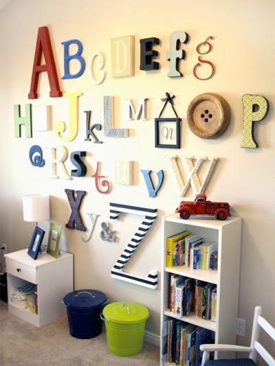 Мысли на виду! (или 60 идей декора стен с помощью слов, букв и цифр), фото № 43