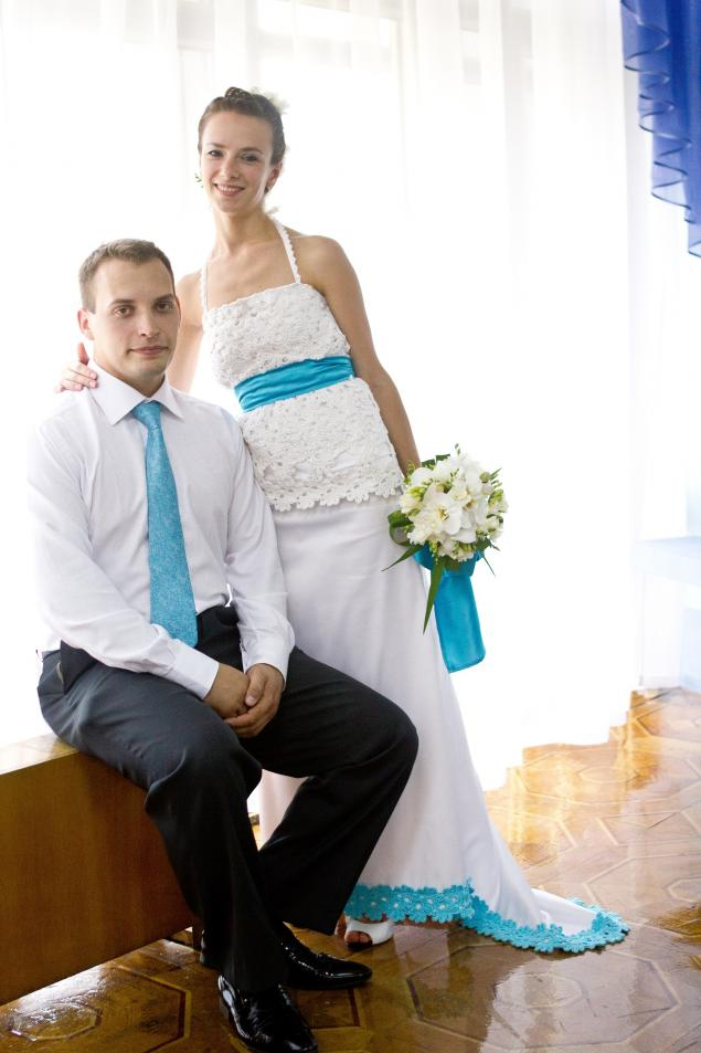 комбинированные свадебные платья фото