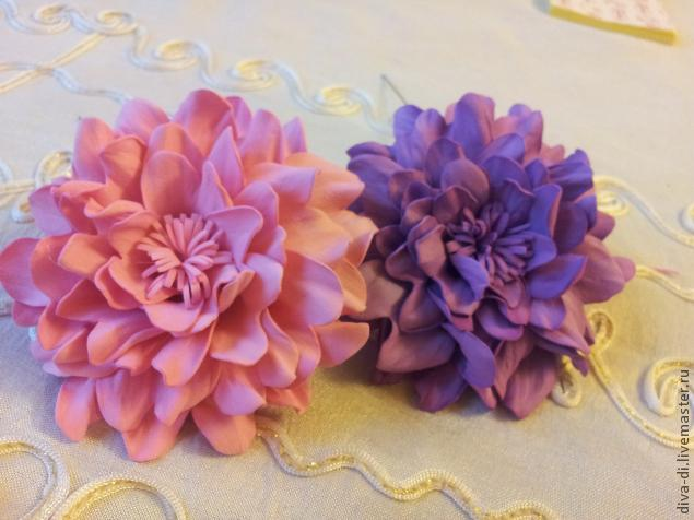 Цветок георгин из фоамирана мастер класс 157