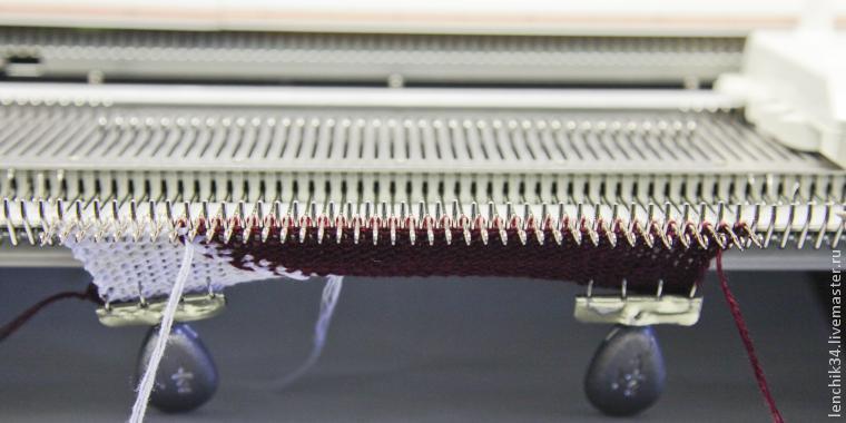 вязание кареткой интарсия