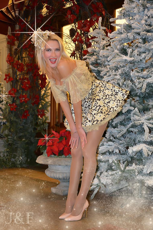 фотосессии в корсетах, платья к новому году